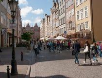 Centro de ciudad de Gdansk Imagen de archivo libre de regalías