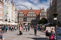 Centro de ciudad de Gdansk Imagen de archivo
