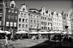 Centro de ciudad de Gdansk Fotografía de archivo