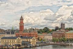 Centro de ciudad de Helsingborg Foto de archivo libre de regalías