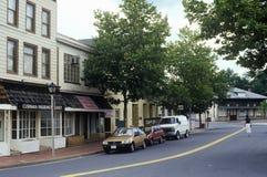 Centro de ciudad de Herndon, el condado de Fairfax, VA Fotografía de archivo libre de regalías