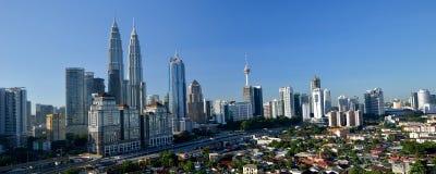 Centro de ciudad de Kuala Lumpur imagenes de archivo