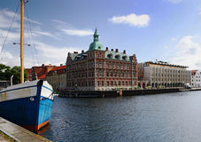 Centro de ciudad de Landskrona, Suecia Imagen de archivo libre de regalías