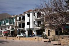 Centro de ciudad de Larnaca, Chipre Foto de archivo libre de regalías