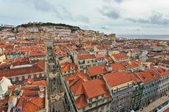 Centro de ciudad de Lisboa Foto de archivo libre de regalías