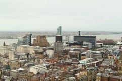Centro de ciudad de Liverpool Imagen de archivo libre de regalías