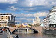 Centro de ciudad de Moscú Fotografía de archivo