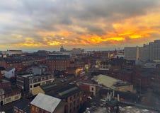 Centro de ciudad de Nottingham Fotografía de archivo libre de regalías