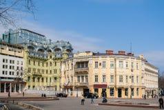Centro de ciudad de Odessa ucrania imagen de archivo
