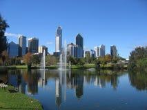 Centro de ciudad de Perth imagen de archivo