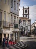 Centro de ciudad de Ponta Delgada Fotografía de archivo