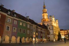 Centro de ciudad de Poznán, Polonia Foto de archivo libre de regalías