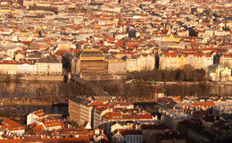 Centro de ciudad de Praga Imagen de archivo libre de regalías