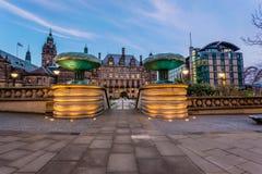 Centro de ciudad de Sheffield Imágenes de archivo libres de regalías