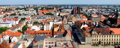 Centro de ciudad de Wroclaw Fotografía de archivo
