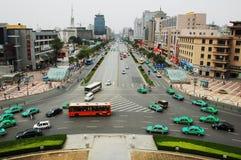 Centro de ciudad de Xian, China Fotografía de archivo libre de regalías