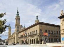 Centro de ciudad de Zaragoza, España Fotografía de archivo libre de regalías