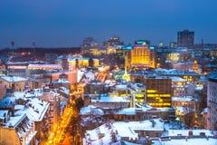 Centro de ciudad del Año Nuevo de Kyiv Foto de archivo
