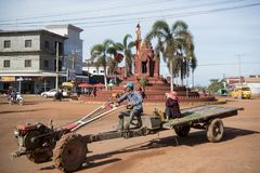 CENTRO DE CIUDAD DEL EM DE CAMBOYA SRA Fotografía de archivo libre de regalías