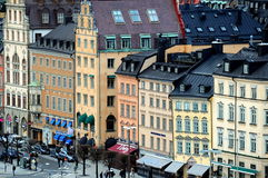 Centro de ciudad del kholm del  de StoÑ, Suecia Fotos de archivo