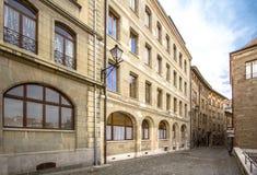Centro de ciudad en Ginebra imágenes de archivo libres de regalías
