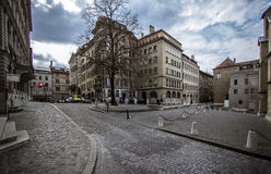 Centro de ciudad en Ginebra foto de archivo