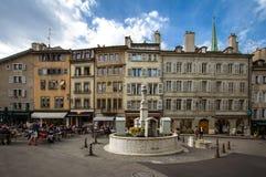 Centro de ciudad en Ginebra fotografía de archivo