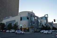 Centro de ciudad en la 6ta alameda Los Ángeles de Koreatown Imagen de archivo