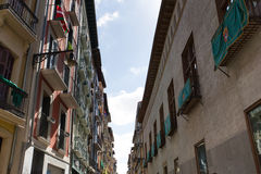 Centro de ciudad en Pamplona Imagen de archivo libre de regalías