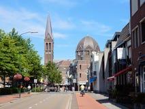 Centro de ciudad Geldrop Imagen de archivo libre de regalías