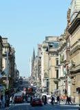 Centro de ciudad, Glasgow, Escocia: St Vincent Street Imagen de archivo