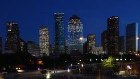 Centro de ciudad de Houston, Tejas, un timelapse crepuscular 4K metrajes