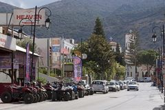 Centro de ciudad de Malta un centro vacacional del Cretan Grecia Imágenes de archivo libres de regalías