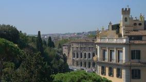 Centro de ciudad de Roma, Italia, Europa almacen de video