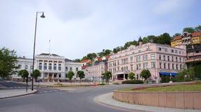 Centro de ciudad de Skien, Telemark, Noruega Imagen de archivo