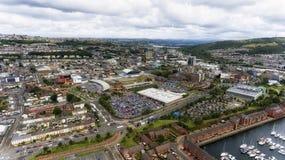 Centro de ciudad de Swansea Fotografía de archivo libre de regalías