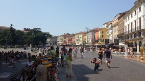 Centro de ciudad, Verona Fotografía de archivo