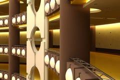 Centro de comércio futurista Imagens de Stock Royalty Free