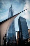 Centro de comércio de mundo novo Fotos de Stock Royalty Free