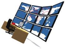 Centro de comando Imagens de Stock Royalty Free
