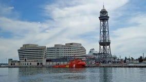 Centro de comercio mundial de Barcelona Imágenes de archivo libres de regalías