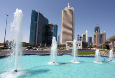Centro de comercio mundial de Dubai Fotos de archivo libres de regalías