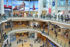 Centro de compra da praça de touros Imagens de Stock Royalty Free