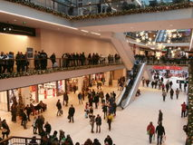 Centro de compra de Galerie do centro em Dresden, Alemanha (2013-12-07) Imagem de Stock Royalty Free