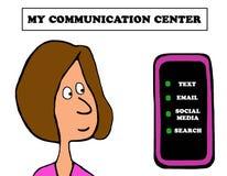 Centro de comunicações ilustração do vetor