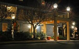 Centro de conferencias en la noche - 3 Imagenes de archivo