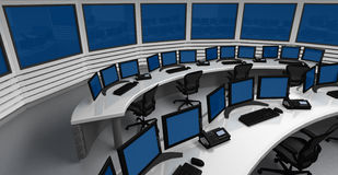 Centro de controle imagem de stock