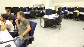 Centro de controle da autoridade de serviços do tráfico aéreo vídeos de arquivo