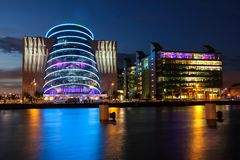 Centro de convenção de Dublin fotos de stock