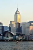 Centro de convenção de Hong Kong e edifícios modernos Imagens de Stock Royalty Free